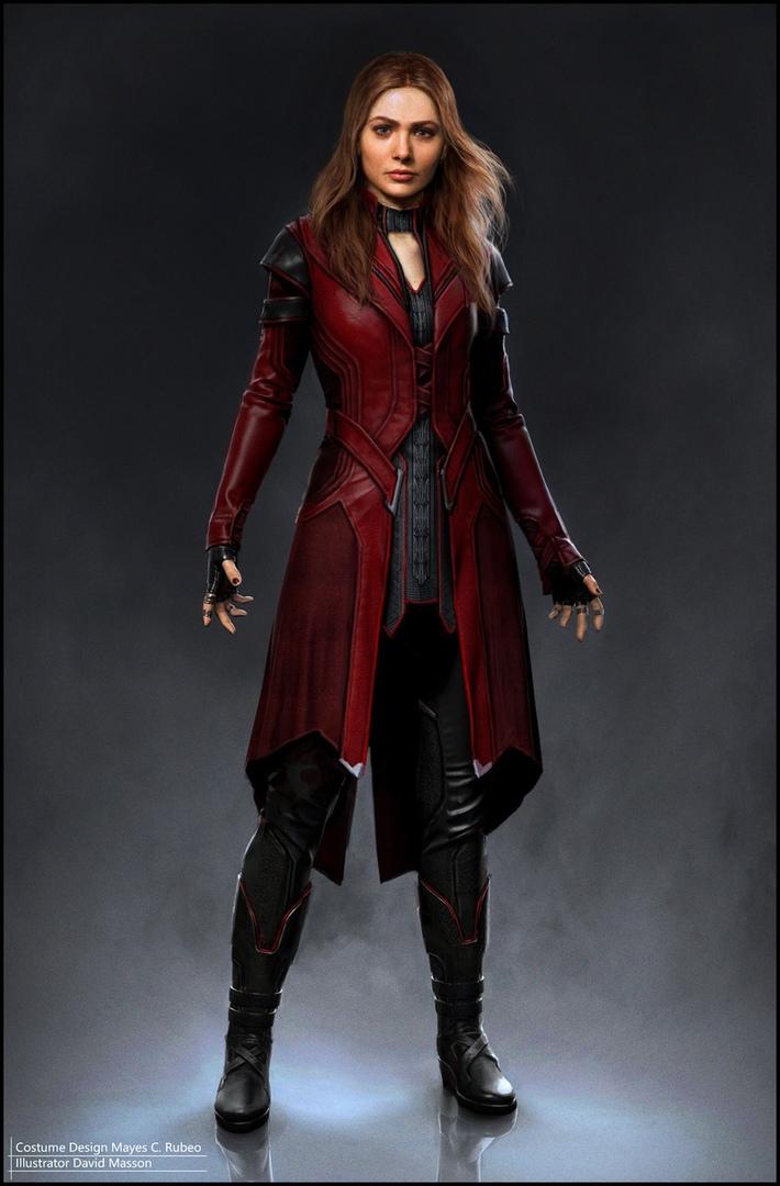 Показан альтернативный костюм Алой Ведьмы в киновселенной Marvel