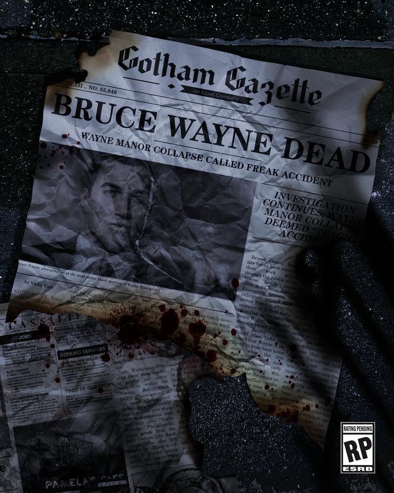 «Брюс Уэйн умер» - новый тизер Gotham Knights напомнил о смерти Бэтмена